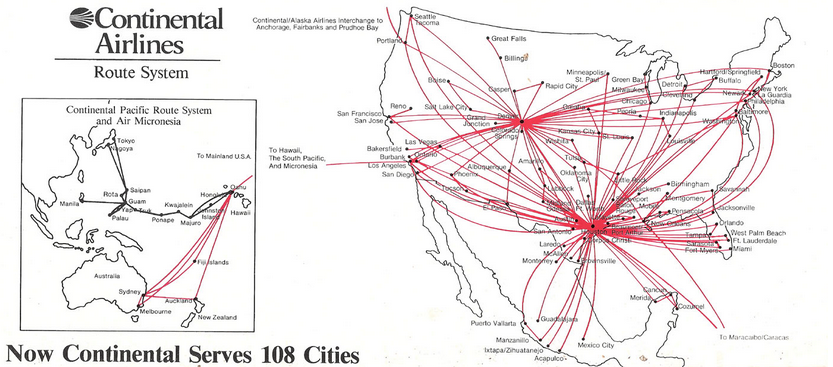 ContinentalAirlinesRouteMap1983
