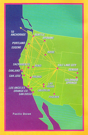 Morris Air Route Map