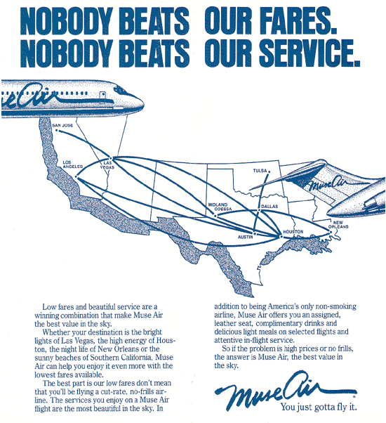 Muse Air Route Map