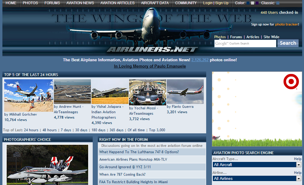 airlinersnet