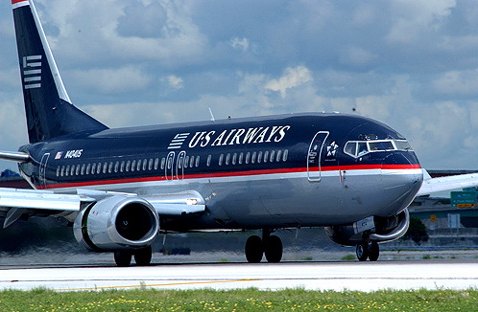 USAir 737 Reversers open